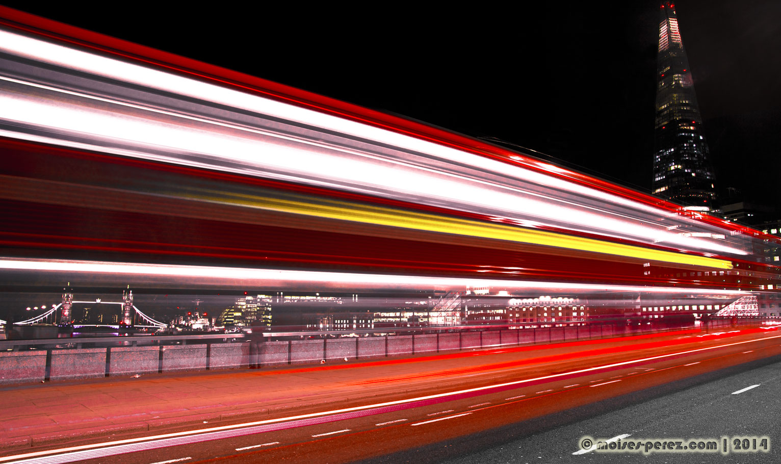 London Bus long exposure