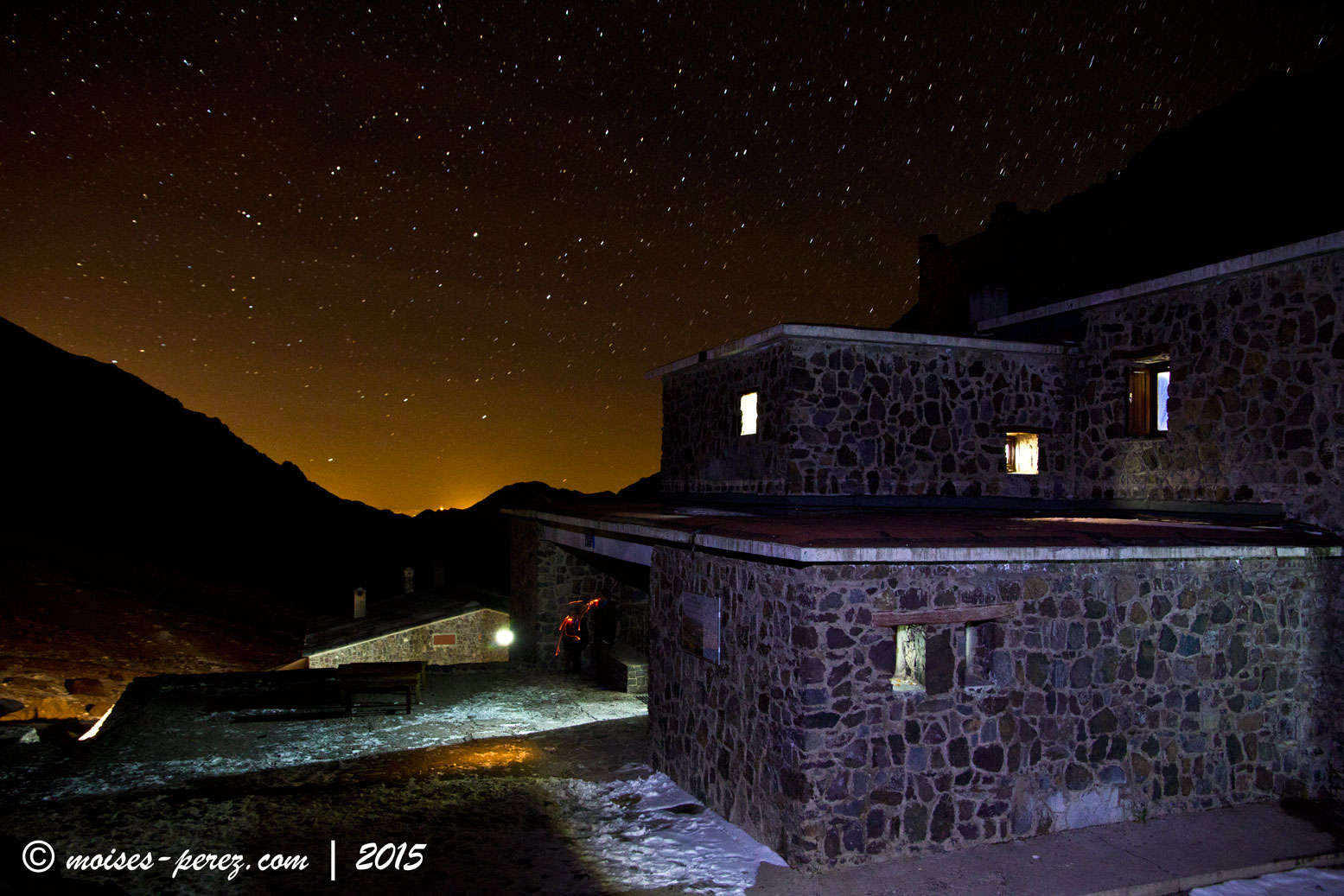 The refuge of the Toubkal