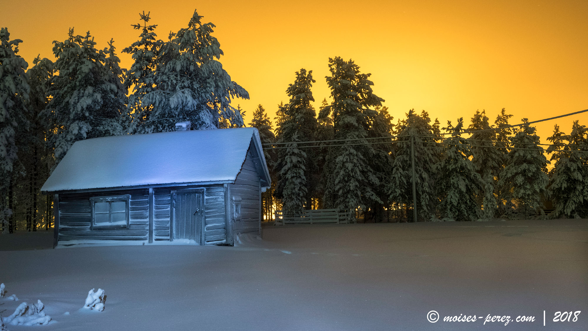 Lights in the Arctic Circle. Finland
